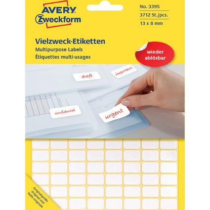 AVERY Zweckform Vielzweck-Etiketten, 13 x 8 mm, ablösbar