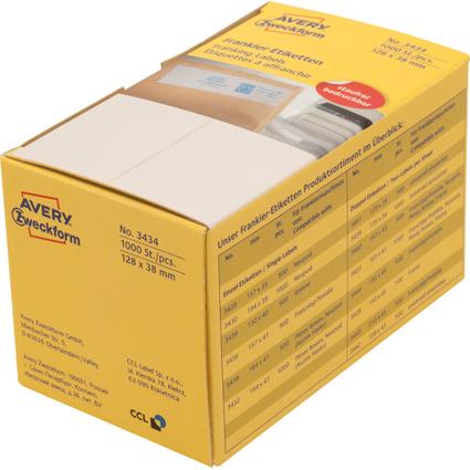 AVERY Zweckform Frankier-Etiketten, 128 x 38 mm, doppelt