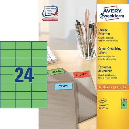 AVERY Zweckform Universal-Etiketten, 70 x 37 mm, grün