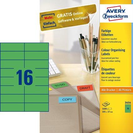 AVERY Zweckform Universal-Etiketten, 105 x 37 mm, grün