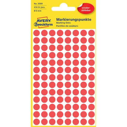 AVERY Zweckform Markierungspunkte, ablösbar, 8 mm, rot