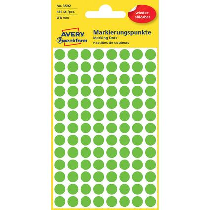 AVERY Zweckform Markierungspunkte, ablösbar, 8 mm, grün