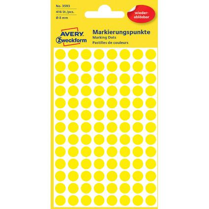 AVERY Zweckform Markierungspunkte, ablösbar, 8 mm, gelb
