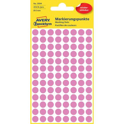 AVERY Zweckform Markierungspunkte, ablösbar, 8 mm, pink
