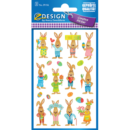 "AVERY Zweckform ZDesign CREATIVE Oster-Sticker ""Osterhase"""