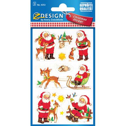 """AVERY Zweckform ZDesign Weihnachts-Sticker """"Weihnachtsmann"""""""