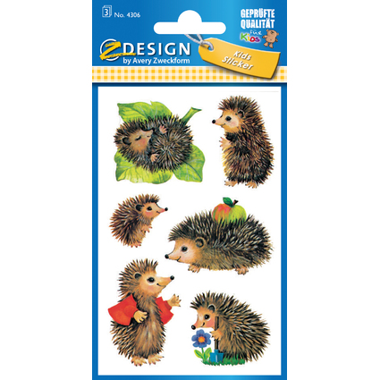 "AVERY Zweckform ZDesign Sticker KIDS ""Igel"""