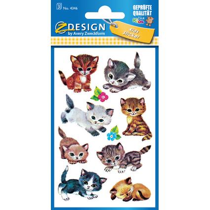 """AVERY Zweckform ZDesign Sticker KIDS """"Katzen"""""""