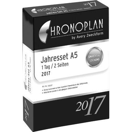 CHRONOPLAN Jahres-Set Tagesplan 2017, A5