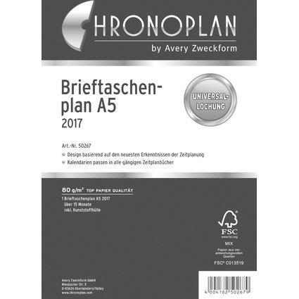CHRONOPLAN Brieftaschenplaner 2017, DIN A5