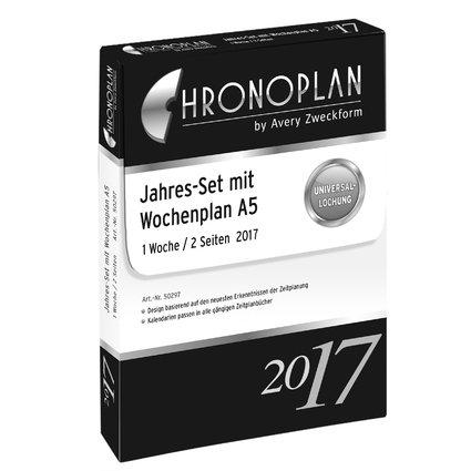 CHRONOPLAN Jahres-Set Wochenplan 2017, DIN A5