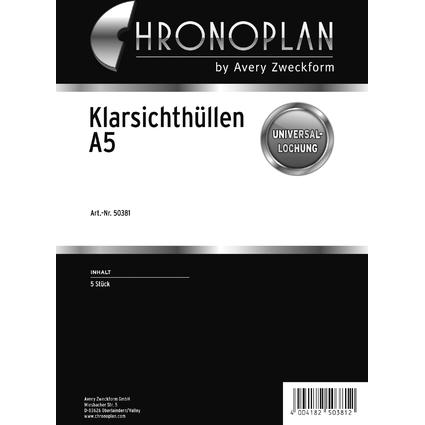 CHRONOPLAN Prospekthülle A5, transparent