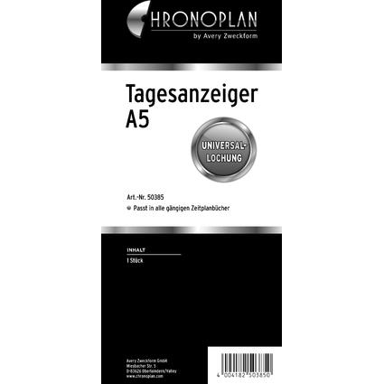 CHRONOPLAN Tagesanzeiger A5, transparent
