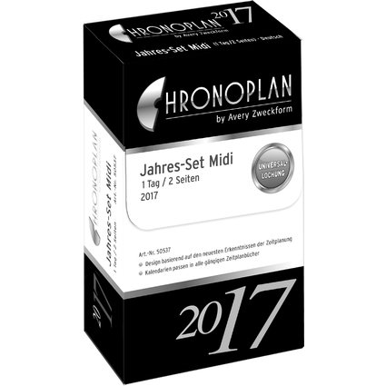 CHRONOPLAN Jahres-Set Tagesplan 2017, Midi
