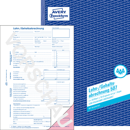 """AVERY Zweckform Formularbuch """"Lohn-/Gehaltsabrechnung"""", A4"""