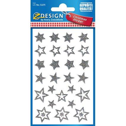 """AVERY Zweckform ZDesign Weihnachts-Sticker """"Glamour"""", silber"""