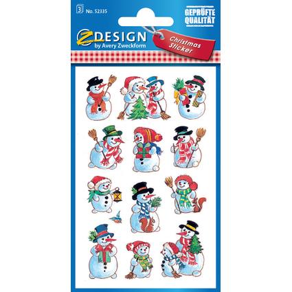 """AVERY Zweckform ZDesign Weihnachts-Sticker """"Schneemänner"""""""