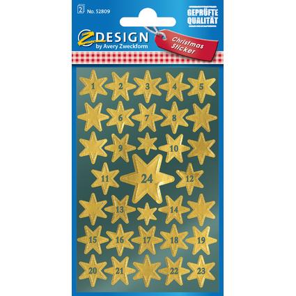 "AVERY Zweckform ZDesign Adventskalender-Sticker ""Sterne"""