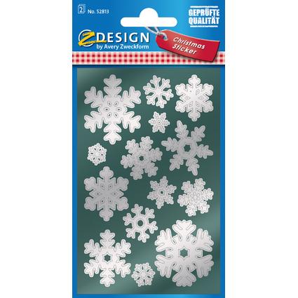 """AVERY Zweckform ZDesign Weihnachts-Sticker """"Schneeflocken"""""""