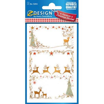 """AVERY Zweckform ZDesign Weihnachts-Sticker """"Widmung Elch"""""""