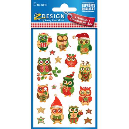 """AVERY Zweckform ZDesign Weihnachts-Sticker """"Eulen"""""""