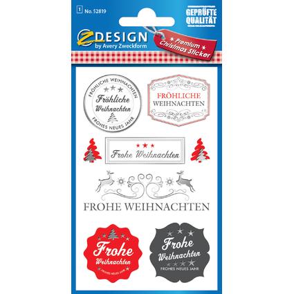 """AVERY Zweckform ZDesign Weihnachts-Sticker """"Stempel"""""""