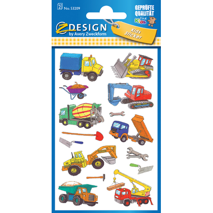 "AVERY Zweckform ZDesign Kids Sticker ""Baustelle"""