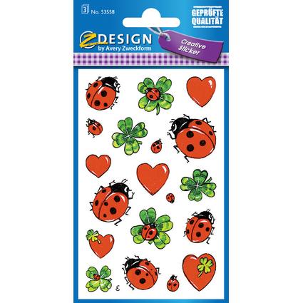 """AVERY Zweckform Z-Design Sticker """"Marienkäfer mit Klee-"""