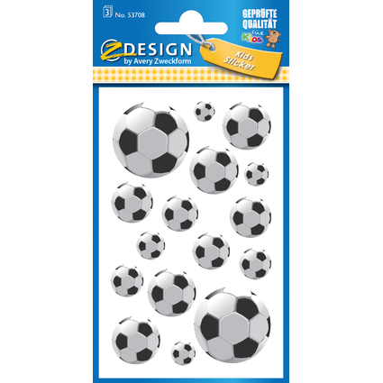 "AVERY Zweckform ZDesign KIDS Sticker ""Fußball"""