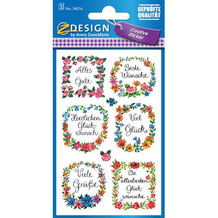 "AVERY Zweckform Z-Design Sticker ""Glückwünsche"""