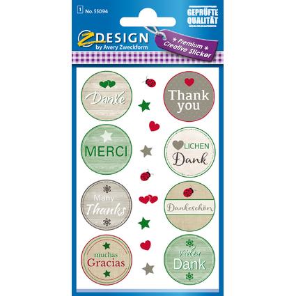 """AVERY Zweckform CREATIVE Sticker """"Danke"""""""