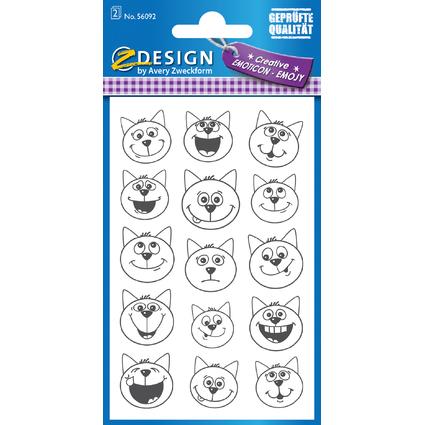 "AVERY Zweckform ZDesign Emoticon-Sticker ""Katze"""