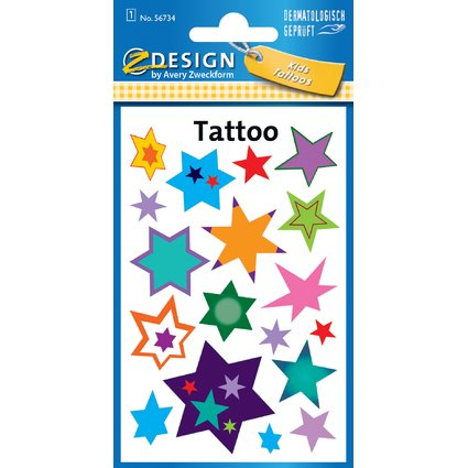 "AVERY Zweckform ZDesign Kids Tattoos ""Sternchen"""