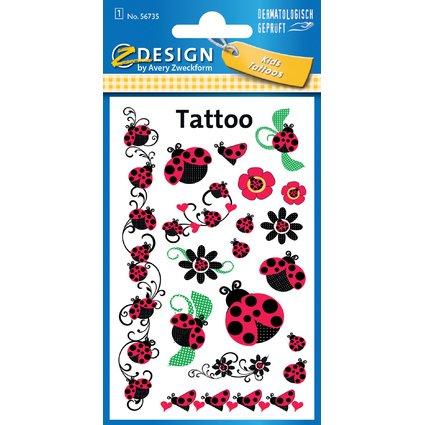 "AVERY Zweckform ZDesign Kids Tattoos ""Marienkäfer"""