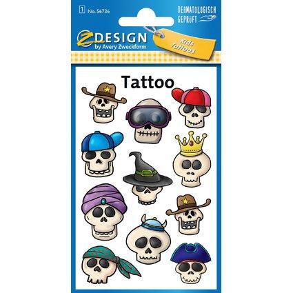 "AVERY Zweckform ZDesign Kids Tattoos ""Totenkopf"""