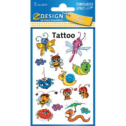 "AVERY Zweckform ZDesign Kids Tattoos ""Insekten"""