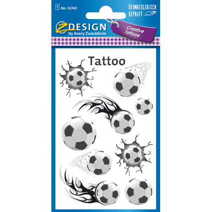 "AVERY Zweckform ZDesign KIDS Tattoos ""Fußball"""