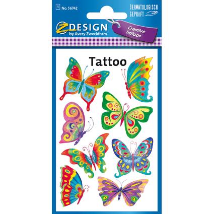 "AVERY Zweckform ZDesign KIDS Tattoos ""Schmetterling"""