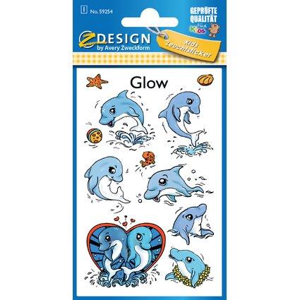 """AVERY Zweckform ZDesign Leucht-Sticker """"Delfine"""""""