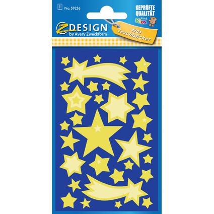 """AVERY Zweckform ZDesign Leucht-Sticker """"Sterne"""""""