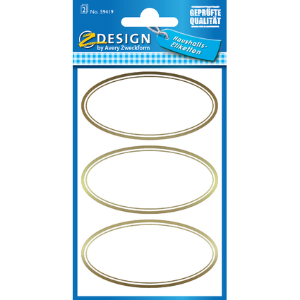"AVERY Zweckform Z-Design Haushaltsetiketten ""oval"""