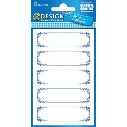 "AVERY Zweckform Z-Design Haushaltsetiketten ""Rahmen blau"""