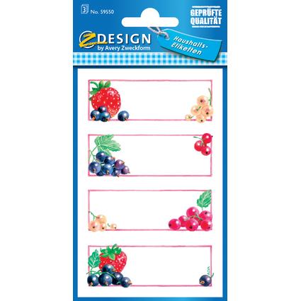 "AVERY Zweckform Z-Design Haushaltsetiketten ""Erdbeere &"