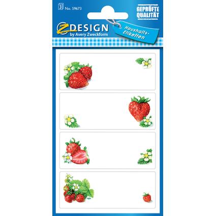 "AVERY Zweckform Z-Design Haushaltsetiketten ""Erdbeeren"""