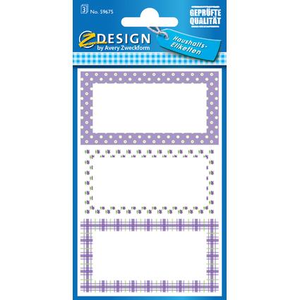 "AVERY Zweckform Z-Design Haushaltsetiketten ""lila gepunktet"""