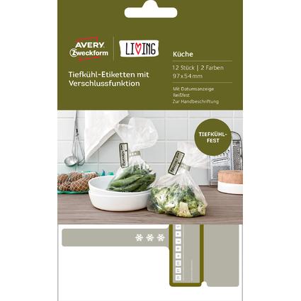 AVERY Zweckform LIVING Tiefkühl-Etiketten mit Verschluss-
