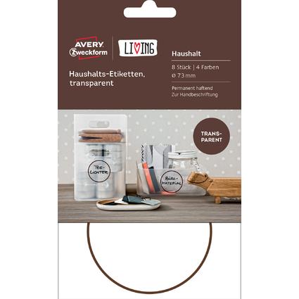 AVERY Zweckform LIVING Haushalts-Etiketten, Durchm. 73 mm