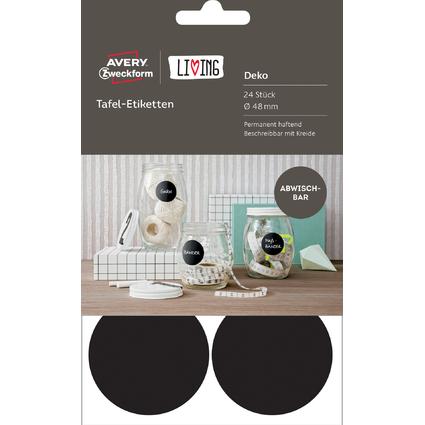 AVERY Zweckform LIVING Tafel-Etiketten, Durchmesser: 48 mm