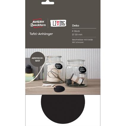 AVERY Zweckform LIVING Tafel-Anhänger, Durchmesser: 50 mm