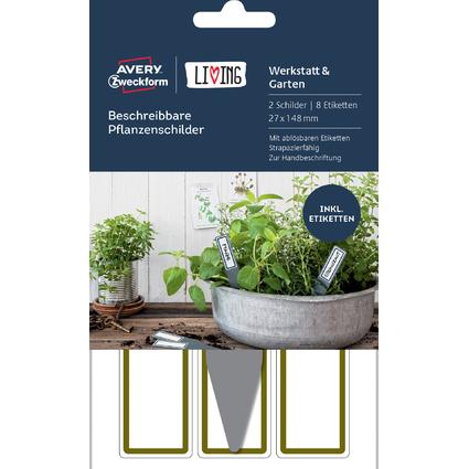 AVERY Zweckform LIVING Pflanzenschilder, beschreibbar, hoch